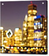 Night Lights - Abstract Chicago Skyline Acrylic Print