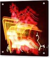 Night Lights Holiday Inn Sign 2 Acrylic Print