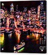 Night Lite Seattle Acrylic Print