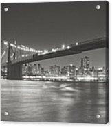 Night - New York City - Brooklyn Bridge Acrylic Print