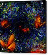 Night Of The Butterflies Acrylic Print