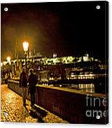 Night On The Charles Bridge Acrylic Print