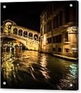 Night On The Grand Canal Acrylic Print