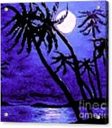 Night On The Islands Painterly Brushstrokes Acrylic Print