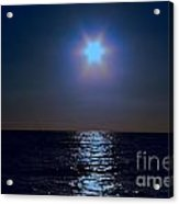 Night On The Sea Acrylic Print