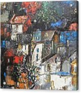 Night Over The Town Acrylic Print