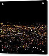 Night Panorama Of Cuenca Ecuador Acrylic Print