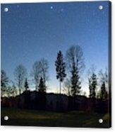 Night Panorama With Stars Acrylic Print