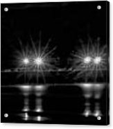 Night Pier Black And White Acrylic Print