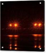 Night Pier Acrylic Print