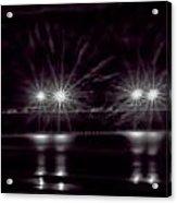 Night Pier Purple Acrylic Print