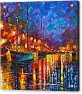 Night Port Acrylic Print