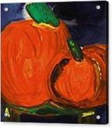 Night Pumpkins Acrylic Print
