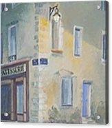 Night Scene In Arles France Acrylic Print
