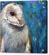 Night Snow Owl Acrylic Print
