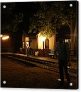 Night Station Acrylic Print