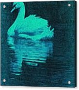 Night Swan L Acrylic Print