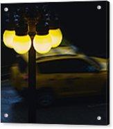 Night Taxi Acrylic Print
