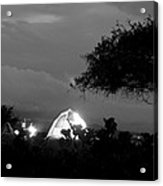 Night Time Camp Site Acrylic Print