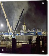 Night Time Frac Acrylic Print