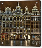 Night Time In Grand Place Acrylic Print