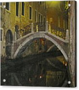 Night Time In Venice Acrylic Print