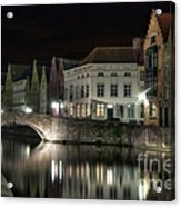 Night Time On The Canal Acrylic Print