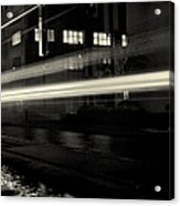 Night Train Black And White Acrylic Print