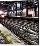 Night Train Acrylic Print by Olivier Le Queinec