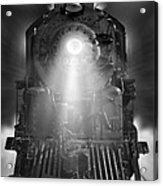Night Train On The Move Acrylic Print