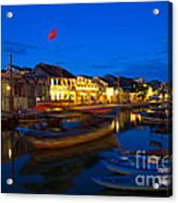 Night View Of Hoi An City Vietnam Acrylic Print