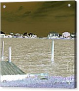 Night View Of Lafitte Bay Dauphin Island Alabama Acrylic Print