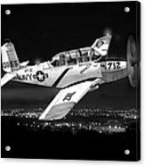 Night Vision Beechcraft T-34 Mentor Military Training Airplane Acrylic Print
