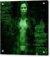 Night Vision Woman Acrylic Print