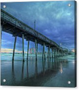 Nightfall At The Pier Acrylic Print