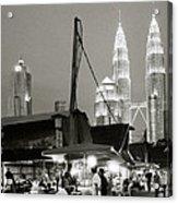 Nightfall Over Kampung Baru Acrylic Print