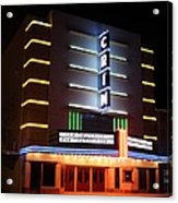 Nightime Shot Of Kilgore Crim Theater Acrylic Print