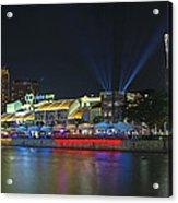 Nightlife At Clarke Quay Singapore Acrylic Print