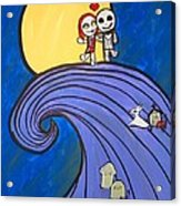 Nightmare Before Christmas Hill Cute Acrylic Print