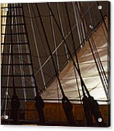 Nightview Sails And Rigging Acrylic Print