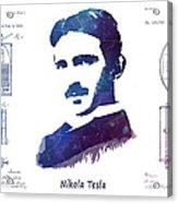 Nikola Tesla Patent Art Electric Arc Lamp Acrylic Print