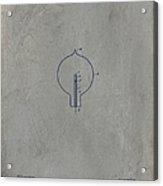 Nikola Tesla's Incandescent Electric Light Patent 1894 - Grunge Acrylic Print