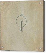 Nikola Tesla's Incandescent Electric Light Patent 1894 Aged Acrylic Print