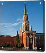 Nikolskaya - St. Nicholas - Tower Of The Kremlin - Square Acrylic Print