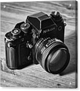 Nikon F3 Acrylic Print by Taylan Apukovska