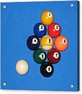 Nine Ball Rack. Acrylic Print