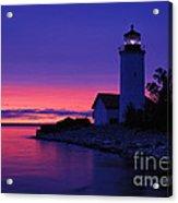 Nine Mile Point Light - Fm000022a Acrylic Print