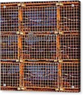 Nine Orange Lobster Traps Acrylic Print by Stuart Litoff