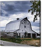 Nine Patch Quilt Barn Acrylic Print