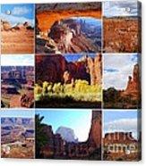 Nine Utah Landmarks Acrylic Print by Catherine Sherman